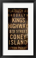 Brooklyn 1 Framed Print