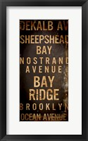 Brooklyn 2 Framed Print