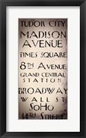 New York City II Framed Print