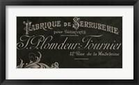 Framed Signes Francais VII