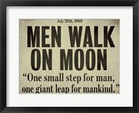 Moonwalk Framed Print