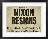 Nixon Framed Print