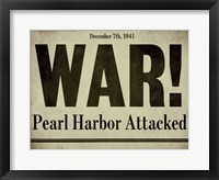 Framed Pearl Harbor