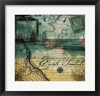 Ocean Clouds I Framed Print
