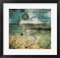 Ocean Clouds II Framed Print