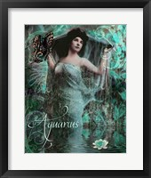 Framed Art Nouveau Zodiac Aquarius
