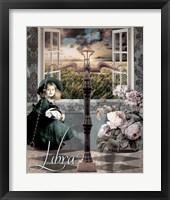 Art Nouveau Zodiac Libra Framed Print