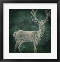 Emerald Deer Framed Print