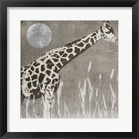 Moon Giraffe Framed Print
