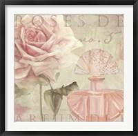 Framed Parfum de Roses I