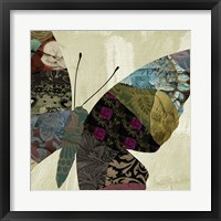 Butterfly Brocade IV Framed Print