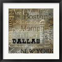 Cities of the World I Framed Print