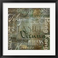 Cities of the World IV Framed Print