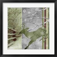 Country Christmas Deer Framed Print
