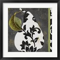 Framed Decorative Pear I