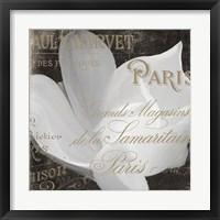 Framed Fleurs Blanc II