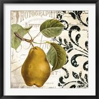 Framed Les Fruits Jardin I