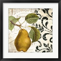 Framed Les Fruits Jardin I