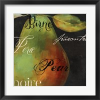 Painted Pear I Framed Print