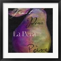 Framed Painted Pear II