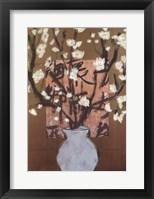 Framed White Cherry Blossoms