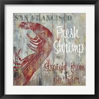 Resturant Seafood I Framed Print