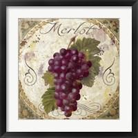 Tuscany Table Merlot Framed Print