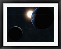 Framed Earth, Moon and Sun