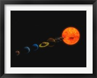 Framed Solar System