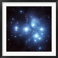 Framed Pleiades Star Cluster