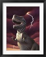 Framed Tyrannosaurus Rex in a Storm