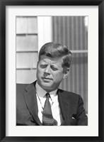 Framed Digitally Restored President John F Kennedy