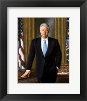 Framed Bill Clinton in White House