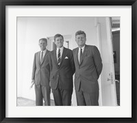 Framed President John Kennedy and Brothers