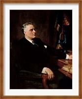 Framed Digitally Restored President Franklin Roosevelt