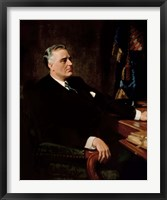 Framed Digitally Restored President Franklin Roosevelt