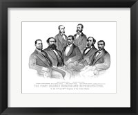 Framed First African American Senator and Representatives