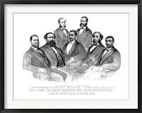 Framed First African American Senator and Representatives