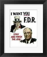 Framed Uncle Sam and President Franklin Roosevelt