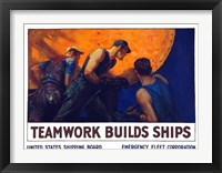 Framed Teamwork Builds Ships