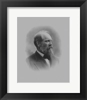 Framed President James Garfield