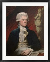 Framed Vintage President Thomas Jefferson
