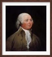 Framed President John Adams