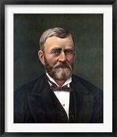 Framed President Ulysses S Grant