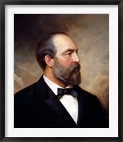 Framed Vintage President James Garfield
