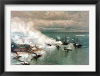 Framed Battle of Mobile Bay