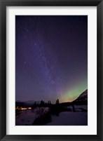 Framed Aurora Borealis and Milky Way