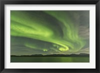 Framed Aurora Borealis over Fish Lake