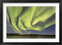Framed Aurora Borealis, Yukon, Canada