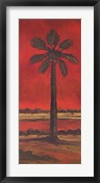 Framed Crimson Palm II